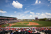 A general view of Hammons Field during a game between the Tulsa Drillers and Springfield Cardinals on May 7, 2013 in Springfield, Missouri. (David Welker/Four Seam Images)