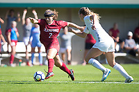 STANFORD, CA - October 21, 2018: Jaye Boissiere at Laird Q. Cagan Stadium. No. 1 Stanford Cardinal defeated No. 15 Colorado Buffaloes 7-0 on Senior Day.