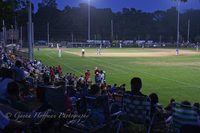 Cape Cod Baseball League night game. Orleans, MA