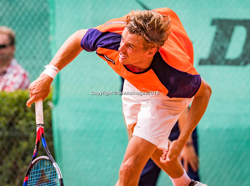 The Hague, Netherlands, 09 June, 2018, Tennis, Play-Offs Competition, Jeroen Vaneste (NED)<br /> Photo: Henk Koster/tennisimages.com