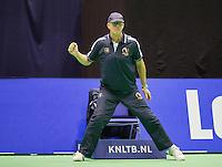 Rotterdam, Netherlands, December 17, 2015,  Topsport Centrum, Lotto NK Tennis, linesman (NED)<br /> Photo: Tennisimages/Henk Koster