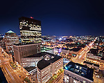 Photo of Dayton Ohio Downtown at night shot from Fifth Third Building on Third & Main Streets