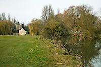 The Roundhouse on the River Thames at Inglesham near Lechlade in Gloucestershire, Uk