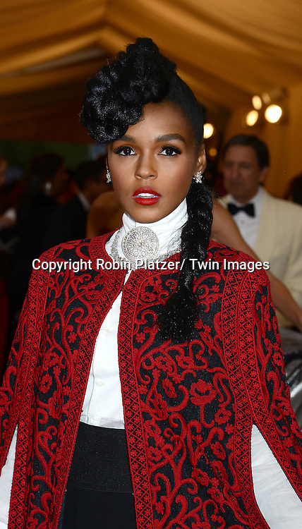 Janelle Monae attends the Costume Institute Benefit on May 5, 2014 at the Metropolitan Museum of Art in New York City, NY, USA. The gala celebrated the opening of Charles James: Beyond Fashion and the new Anna Wintour Costume Center.