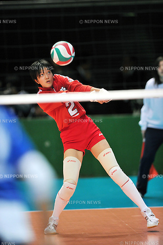 Yurie Nabeya (Higashi Kyushu Ryukoku), JANUARY 7, 2012 - Volleyball :The 64 th All Japan High School Women's Volleyball Championship at Tokyo Metropolitan Gymnasium, Tokyo, Japan. (Photo by Jun Tsukida/AFLO SPORT) [0003]