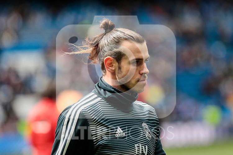 Real Madrid's Gareth Bale during La Liga match between Real Madrid and SD Eibar at Santiago Bernabeu Stadium in Madrid, Spain.April 06, 2019. (ALTERPHOTOS/A. Perez Meca)