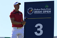 Jacques Kruyswijk (RSA) tees off the 3rd tee during Friday's Round 2 of the 2018 Dubai Duty Free Irish Open, held at Ballyliffin Golf Club, Ireland. 6th July 2018.<br /> Picture: Eoin Clarke | Golffile<br /> <br /> <br /> All photos usage must carry mandatory copyright credit (&copy; Golffile | Eoin Clarke)