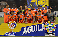 ENVIGADO- COLOMBIA, 31-08-2019.Formación  del Envigado ante Águilas Doradas durante partido por la fecha 9 de la Liga Águila II 2019 jugado en el estadio Polideportivo Sur de la ciudad de Medellín. /Team  of Envigado agaisnt  of Aguilas Doradas during the match for the date 9 of the Liga Aguila II 2019 played at Polideportivo Sur stadium in Medellin  city. Photo: VizzorImage / Leon Monsalve/ Contribuidor