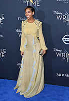 Meagan Good at the premiere for &quot;A Wrinkle in Time&quot; at the El Capitan Theatre, Los Angeles, USA 26 Feb. 2018<br /> Picture: Paul Smith/Featureflash/SilverHub 0208 004 5359 sales@silverhubmedia.com
