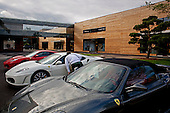 Moscow, Russia<br /> September 20, 2009<br /> <br /> A Ferrari dealer is just one of the high-end shops in the Barviha Luxury Village, a new complex by Russian Architect Yuri Grigoryan.