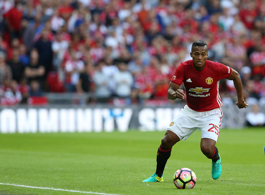 Manchester United's Luis Antonio Valencia<br /> <br /> Photographer Stephen White/CameraSport<br /> <br /> Football - The FA Community Shield - Leicester City v Manchester United - Sunday 7 August 2016 - Wembley Stadium - London<br /> <br /> World Copyright &copy; 2016 CameraSport. All rights reserved. 43 Linden Ave. Countesthorpe. Leicester. England. LE8 5PG - Tel: +44 (0) 116 277 4147 - admin@camerasport.com - www.camerasport.com