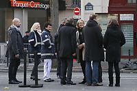 FRANCOISE NYSSEN (MINISTRE DE LA CULTURE) - CEREMONIE D'HOMMAGE AUX VICTIMES DE L'ATTENTAT DU BATACLAN A PARIS, FRANCE, LE 13/11/2017.