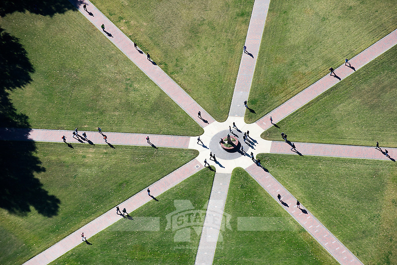 View of the Drill Field from a blimp. (photo by Megan Bean / © Mississippi State University)