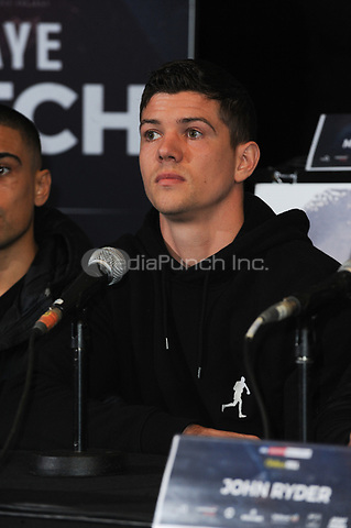 Luke Campbell is pictured at the Undercard and Main Event press conference for Saturday May 5th's boxing at the 02 arena in London. May 3, 2018. Credit: Matrix/MediaPunch ***FOR USA ONLY***<br />