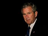 U.S. President George W. Bush walks on the South Lawn of the White House upon his return to Washington  Washington, DC  May 31, 2008.<br /> Credit: Yuri Gripas / Pool via CNP