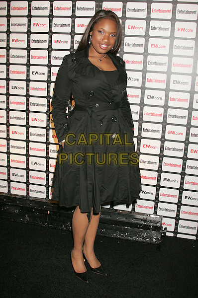 JENNIFER HUDSON.Entertainment Weekly Magazine Celebrates The 2006 Photo Issue Party held at Quixote Studios, Hollywood, California , USA, 04 October 2006..full length black mac coat belted.Ref: ADM/RE.www.capitalpictures.com.sales@capitalpictures.com.©Russ Elliot/AdMedia/Capital Pictures.