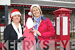 Kenmare Bay Hotel and Ryan's Bar are sponsoring Santa's Grotto in the Tourist Office, Kenmare every Saturday and Sunday over December from 12 noon until 4pm, pictured here are: Marie Cleary (Chairperson, Kenmare Chamber of Commerce) and Sue Ryan (Sales Manager Kenmare Bay Hotel) .