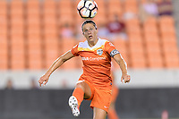 Houston, TX - Saturday July 08, 2017: Carli Lloyd gains control of the ball during a regular season National Women's Soccer League (NWSL) match between the Houston Dash and the Portland Thorns FC at BBVA Compass Stadium.