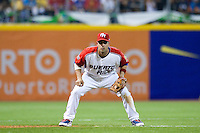 11 March 2009: #12 Ramon Vazquez of Puerto Rico is seen at third base position during the 2009 World Baseball Classic Pool D game 6 at Hiram Bithorn Stadium in San Juan, Puerto Rico. Puerto Rico wins 5-0 over the Netherlands