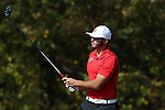 31 October 2016: Liberty University's Isaiah Logue. The Third Round of the 2016 Bridgestone Golf Collegiate NCAA Men's Golf Tournament hosted by the University of North Carolina Greensboro Spartans was held on the West Course at the Grandover Resort in Greensboro, North Carolina.