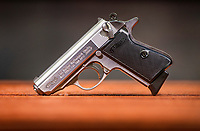 NWA Democrat-Gazette/BEN GOFF @NWABENGOFF<br /> A new Walther PPK pistol sits on display Friday, Jan. 4, 2019, at Walther Arms in Fort Smith.
