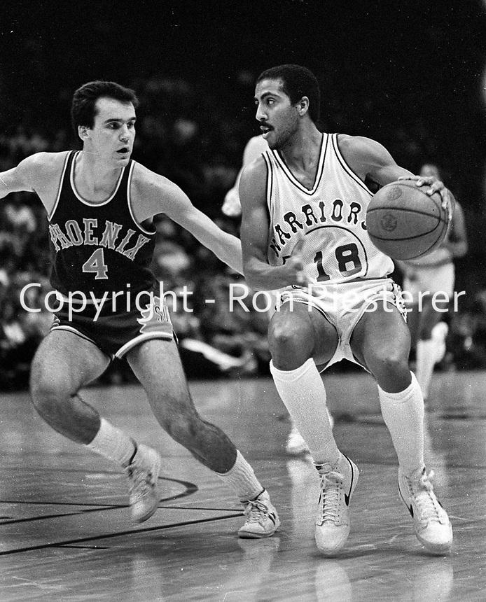 Golden State Warriors Lorenzo Romar with Phoenix Suns #4.....(1981 photo/Ron Riesterer)