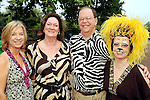 From left: Nancy Pustka, Cynthia Adkins, John Adkins and Jane Block at the Zoo Friends of Houston's 22nd Zoo Ball Friday April 30,2010.  (Dave Rossman Photo)