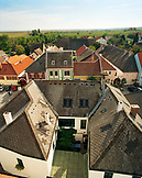 AUSTRIA, Rust, elevated view of  the town of Rust and the countryside, Burgenland
