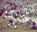 Minnesota Vikings Gary Larsen (88) during a game against the New York Jets on November 29, 1970 at Shea Stadium in Flushing, New York. The New York Jets  beat the Minnesota Vikings 20-10.  Gary Larsen played for 11 years with 2 different teams was a 2-time Pro Bowler.(SportPics)