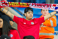 Panama fans during the International Friendly match between Wales and Panama at the Cardiff City Stadium, Cardiff, Wales on 14 November 2017. Photo by Mark Hawkins.