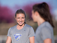 Boyds, MD - April 16, 2016: Boston Breakers midfielder Kristie Mewis (19). The Washington Spirit defeated the Boston Breakers 1-0 during their National Women's Soccer League (NWSL) match at the Maryland SoccerPlex.