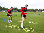 Nathan Thomas and George Baldock during the training session at the Shirecliffe Training complex, Sheffield. Picture date: June 27th 2017. Pic credit should read: Simon Bellis/Sportimage
