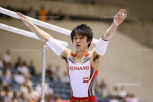 Kohei Uchimura, MAY 11, 2014 - Artistic Gymnastics : The 68th All Japan Gymnastics Championship Men's Individual All-Around Parallel Bars at 1st Yoyogi Gymnasium, Tokyo, Japan. (Photo by Yohei Osada/AFLO SPORT)