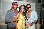 "Omar ""Slim"" White, Vivica A. Fox and BJ Coleman Attend Vivica A. Fox Hosts Private Celebration for the 31st Birthday of Publicist BJ Coleman and the Launch of www.burgersandbourbon.com Sponsored by Pisco Portón,  at The Marcel Hotel's Polar Lounge, NY 8/25/11"