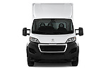 Car photography straight front view of a 2017 Peugeot Boxer 410 4 Door Parcel Van Front View