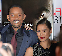 Actors Will Smith &amp; Gugu Mbatha-Raw at the premiere of their movie &quot;Concussion&quot;, part of the AFI FEST 2015, at the TCL Chinese Theatre, Hollywood.<br /> November 10, 2015  Los Angeles, CA<br /> Picture: Paul Smith / Featureflash