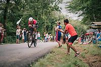 Bob Jungels (LUX/Quick-Step Floors)<br /> <br /> Stage 20 (ITT): Saint-P&eacute;e-sur-Nivelle &gt;  Espelette (31km)<br /> <br /> 105th Tour de France 2018<br /> &copy;kramon