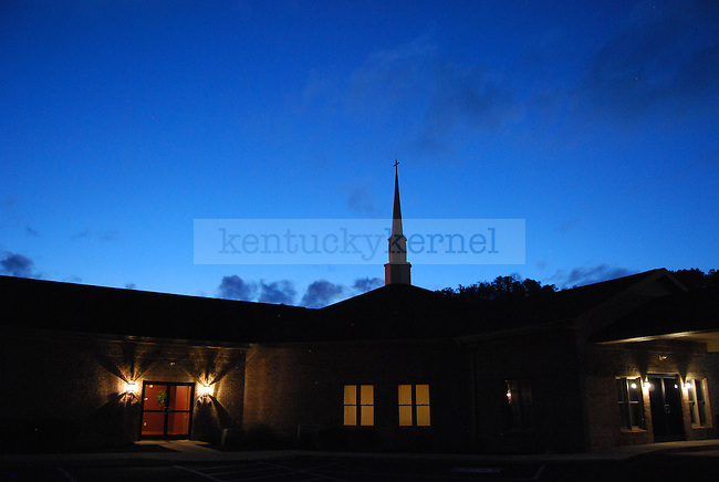 A church at dusk on Highway 15 near Quicksand, KY on October 12th, 2011. Photo by Lauryn Morris.