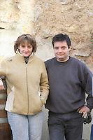 Jérôme Bertrand and his wife Sabine. Domaine Bertrand-Berge In Paziols. Fitou. Languedoc. Owner winemaker. France. Europe.