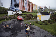 Ile D'Orleans, Quebec City Area, Canada, June 8, 1984. Drying clothes in the Summer air.