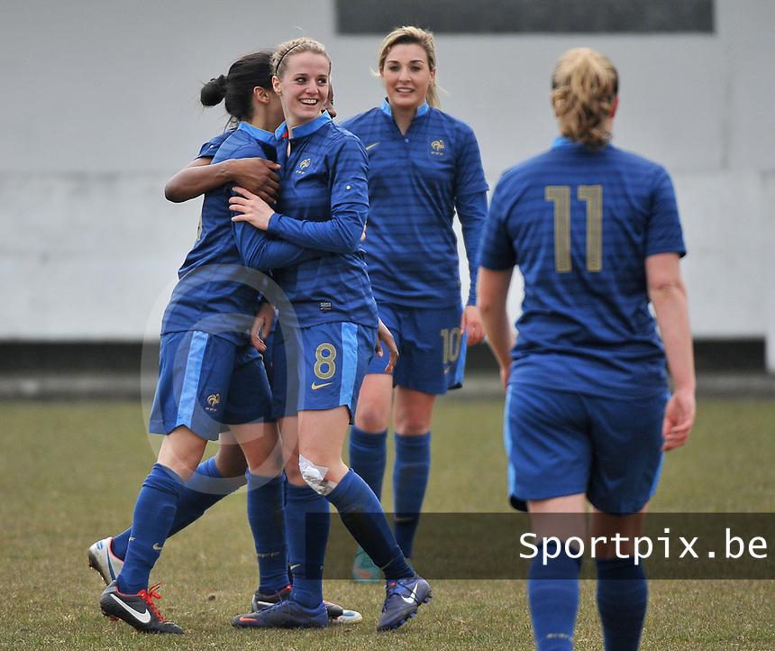 France U19 - Russia U19 : France Celebrating their many goals.foto DAVID CATRY / Nikonpro.be