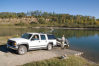 Alberta, Canada, guided fly fishing on the Red Deer River, a premier Brown Trout fishery in Canada's Prairie Land.