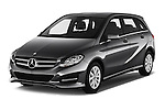 2016 Mercedes Benz B-Class Inspiration 5 Door Mini MPV Angular Front stock photos of front three quarter view