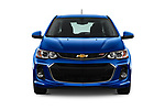 Car photography straight front view of a 2019 Chevrolet Sonic LT RS Select Doors Door Hatchback