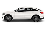 Car driver side profile view of a 2018 Mercedes Benz GLC Coupe base 5 Door SUV