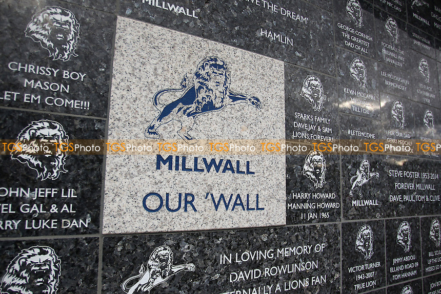 General view of the Millwall wall during Millwall Lionesses vs Sheffield FC Ladies, FA Women's Super League FA WSL2 Football at The Den on 9th October 2016