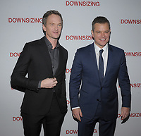 NEW YORK, NY - December 11: Neil Patrick Harris , Matt Damon attends the 'Downsizing' New York screening at AMC Lincoln Square Theater on December 11, 2017 in New York City.Credit: John Palmer/MediaPunch /nortephoto.com NORTEPHOTOMEXICO