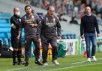 Leeds United manager Marcelo Bielsa shouts instructions to his team from the technical area<br /> <br /> Photographer Alex Dodd/CameraSport<br /> <br /> The EFL Sky Bet Championship - Leeds United v Barnsley - Thursday 16th July 2020 - Elland Road - Leeds<br /> <br /> World Copyright © 2020 CameraSport. All rights reserved. 43 Linden Ave. Countesthorpe. Leicester. England. LE8 5PG - Tel: +44 (0) 116 277 4147 - admin@camerasport.com - www.camerasport.com