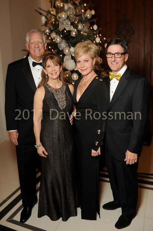 From left: Chuck and Donna Grehn with Melanie and Steve Skrivanos at the 27th annual Trees of Hope Holiday Gala at The Citadel on Kirby Friday Oct. 04,2016.(Dave Rossman photo)