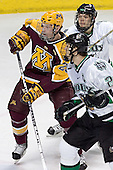 Ryan Stoa, Zach Jones, Matt Smaby - The University of Minnesota Golden Gophers defeated the University of North Dakota Fighting Sioux 4-3 on Friday, December 9, 2005, at Ralph Engelstad Arena in Grand Forks, North Dakota.